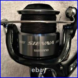 Two Shimano 6 SRS Rod & Sienna 2500FE (Black Braid) Reel Combos