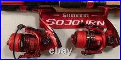 Two Shimano 6½ Sojourn Rod & LK4000 (13 bb) Reel (Black Braid) Combos