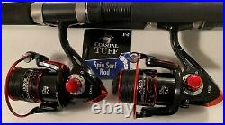 Two Shimano 6½ Sojourn Rod & LK4000 (13 bb) Reel (red Braid) Combos