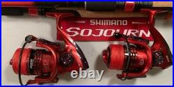 Two Shimano 6½ Sojourn Rod & XF4000 (13+1 bb) Reel (Black Braid) Combos