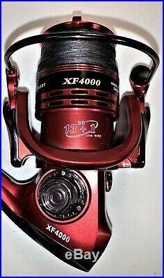 Two Shimano 6½ Stimula, 1 Pc Rod & XF4000 (13+1 bb) Reel (Black Braid) Combos