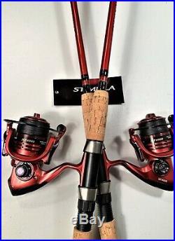 Two Shimano 6½ Stimula Rod & XF4000 (13+1 bb) Reel (Black Braid) Combos