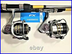Two Shimano FXS 7', 2-Pc Rod and KSA3000 (14+1 bb) Reel Combos