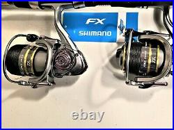 Two Shimano FXS 7 Rod and KSA3000 (14+1 BB) Reel Combos