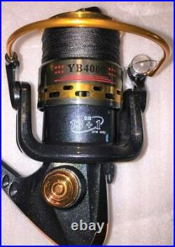 Two Shimano FXS 7 Rod and YB4000 (13+1 bb) Reel Combo