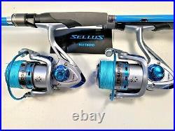 Two Shimano Sellus 6' Rod & FB4000 (12 bb) Reel Combos