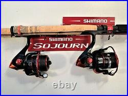 Two Shimano Sojourn 6½ or 7' Rod & DM5000 (13 bb) Reel Combos