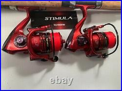 Two Shimano Stimula 6½ or 7' Rod & XF4000 (13+1 bb) Reel Combos