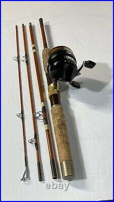 VINTAGE WRIGHT & McGILL TRAILMASTER 4TMS Combo FISHING ROD 66 & ZEBCO 600