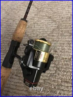 Vintage Daiwa SS 700 Tournament Reel, Quantum IRON X IM6 Spinning Rod Combo Nice