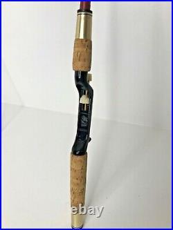 Vintage HEDDON 2pc. Spincast Fishing Rod with Vintage LANGLEY SPEEDCAST Reel Combo