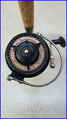 Vintage Rare Garcia Mitchell Model 510 Forked Foot Reel With Matching Garcia Rod